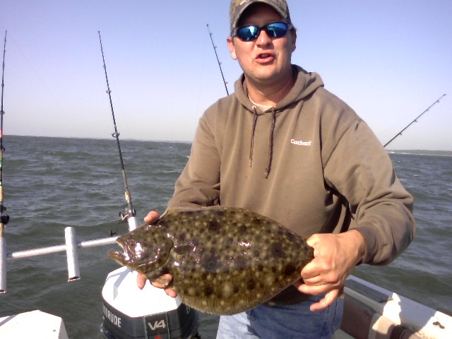 You need a lot of rod holders to troll for flounder