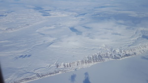 The terrain of Greenland near Station Nord