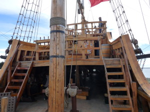 The main mast and aft deck