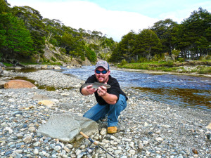 The largest brown trout I have ever caught in Patagonia, just a minnow!