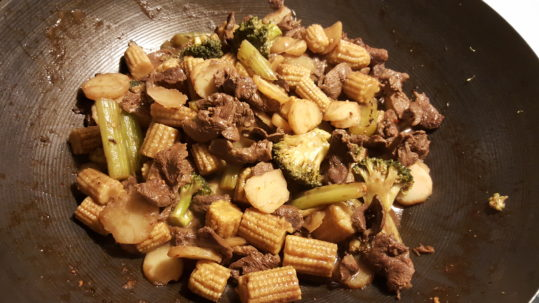 Duck stir fry, simple, fast and good